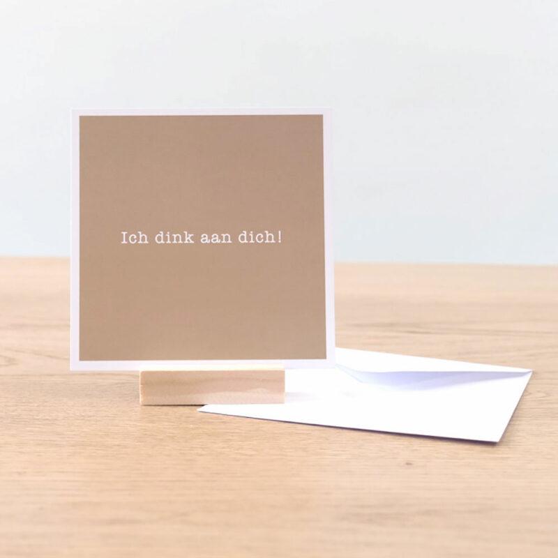 ik denk aan je kaart